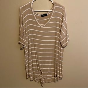 Brown Knotted Shirt